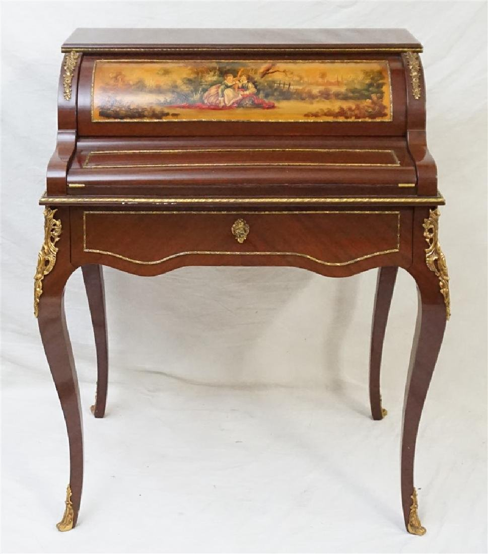 FRENCH VERNIS MARTIN STYLE MECHANICAL LADIES DESK