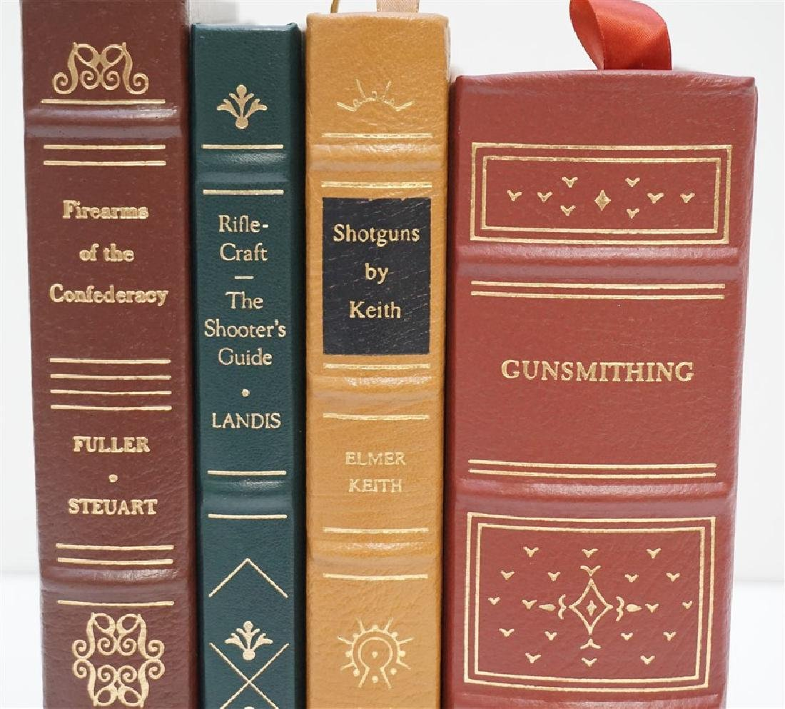 4 RARE GUN BOOKS - LEATHER BOUND PALLADIUM PRESS - 2