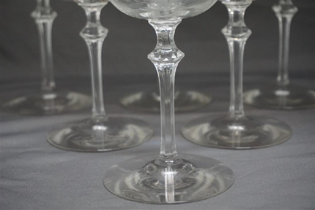 6 ELEGANT ERA ETCHED CRYSTAL FAIRY CHAMPAGNES - 3