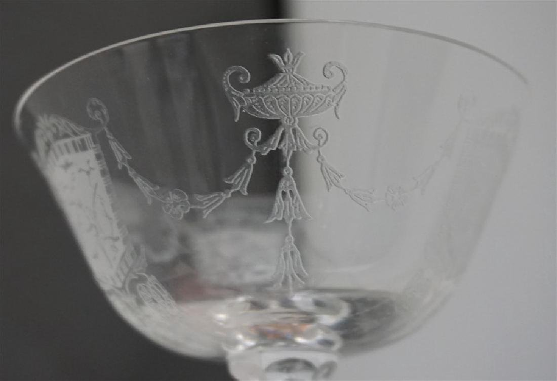 6 ELEGANT ERA ETCHED CRYSTAL FAIRY CHAMPAGNES - 5