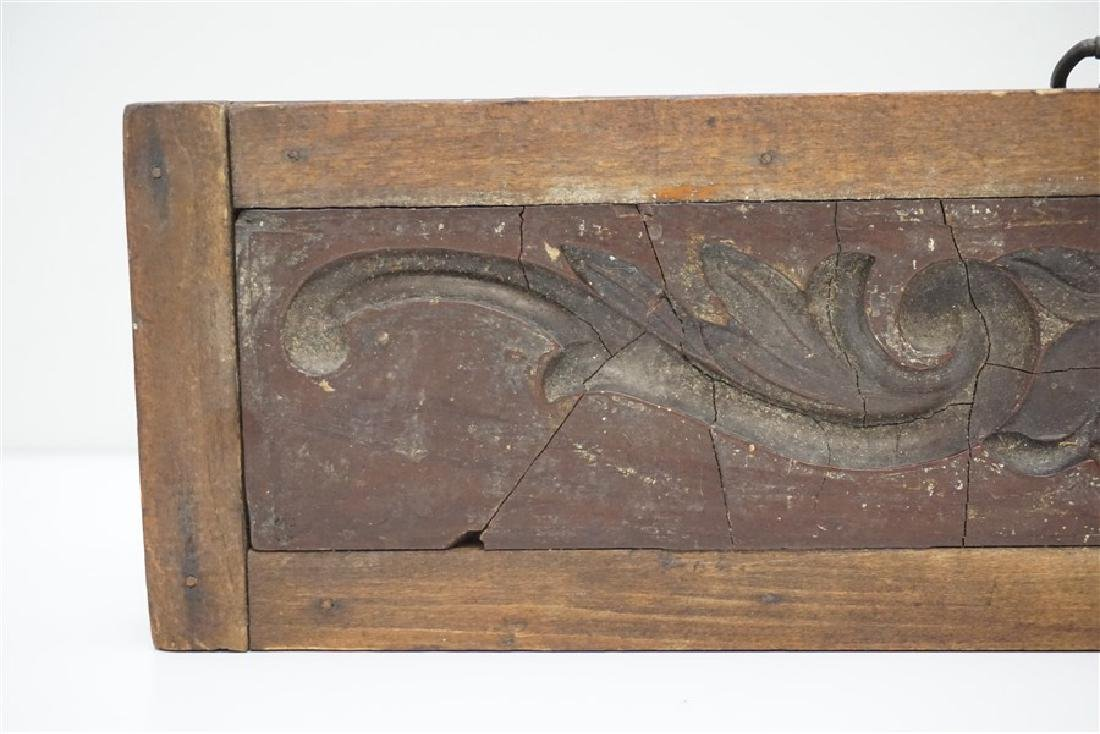 AMERICAN 18h c. ARCHITECTURAL WOOD MOLD - 4