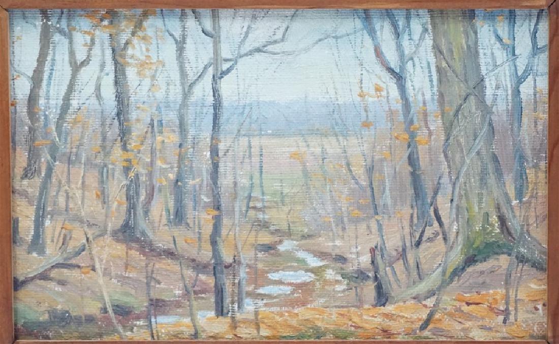 JACOB S ROYER 1928 RAVINE IN WINTER - 2