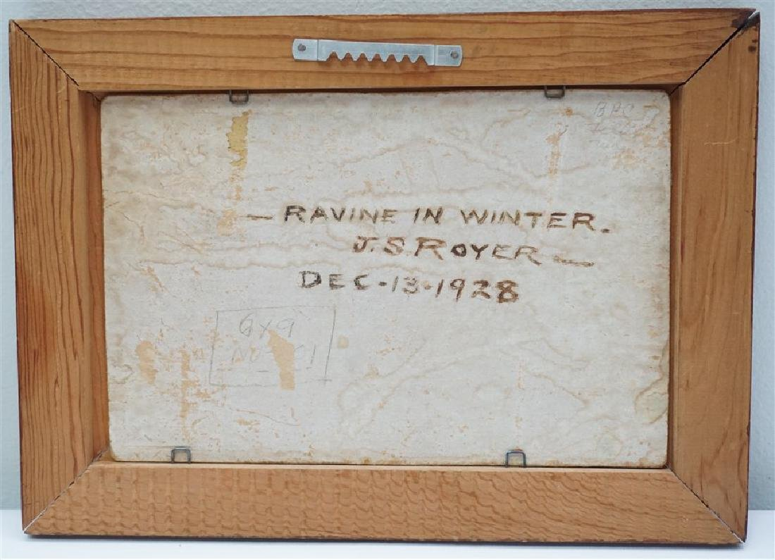 JACOB S ROYER 1928 RAVINE IN WINTER - 5