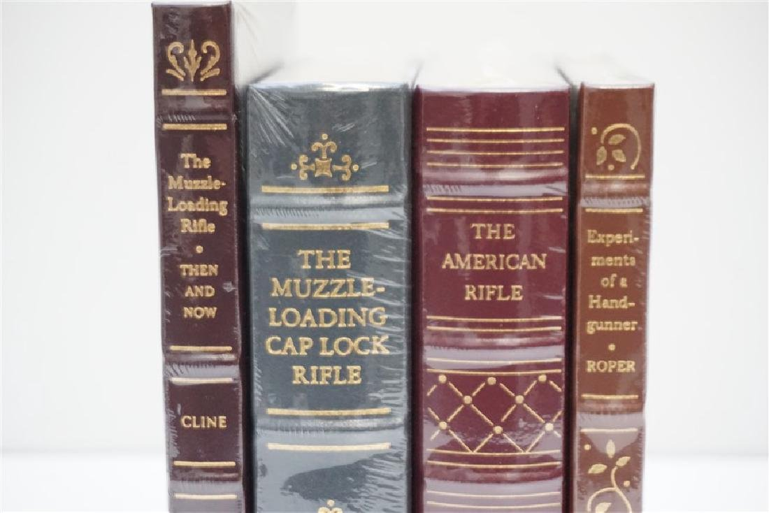 4 RARE GUN BOOKS - LEATHER BOUND PALLADIUM PRESS - 2