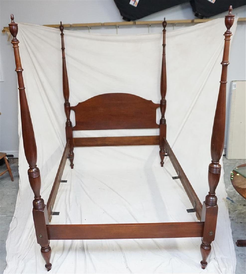 CRAFTIQUE FOUR POSTER MAHOGANY BED
