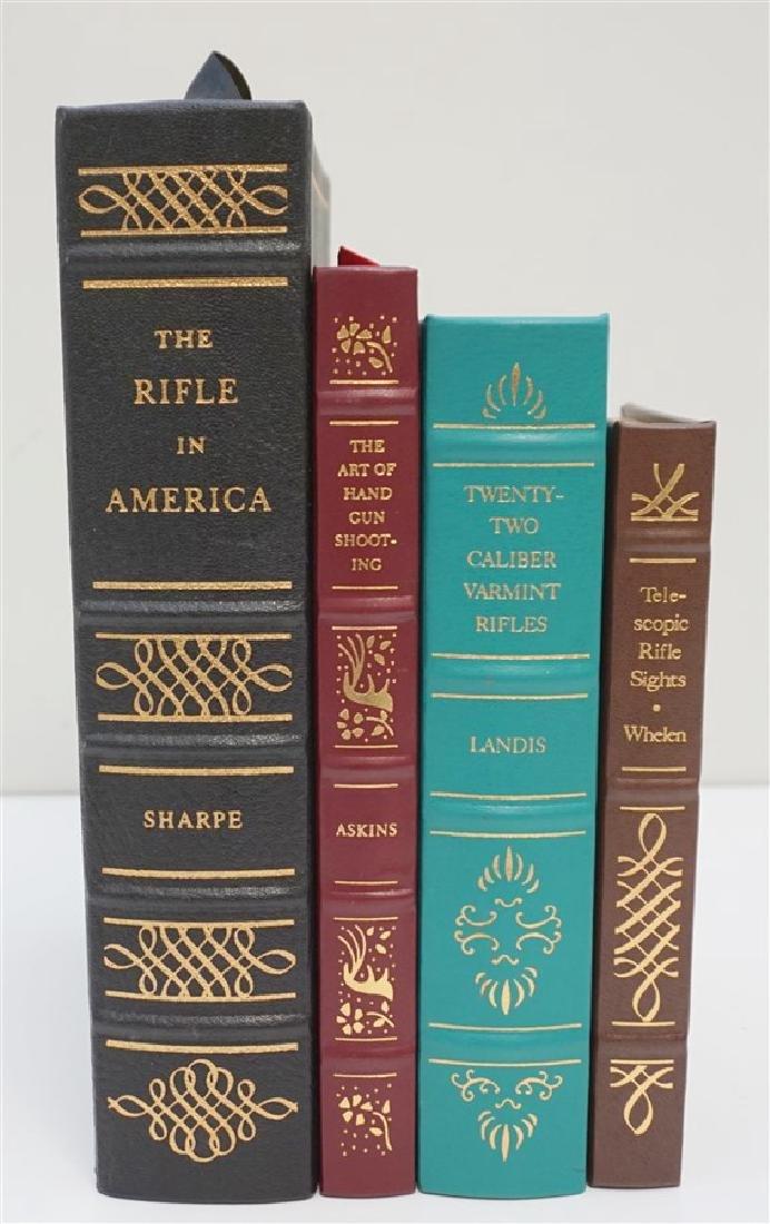 4 RARE GUN BOOKS - LEATHER BOUND PALLADIUM PRESS