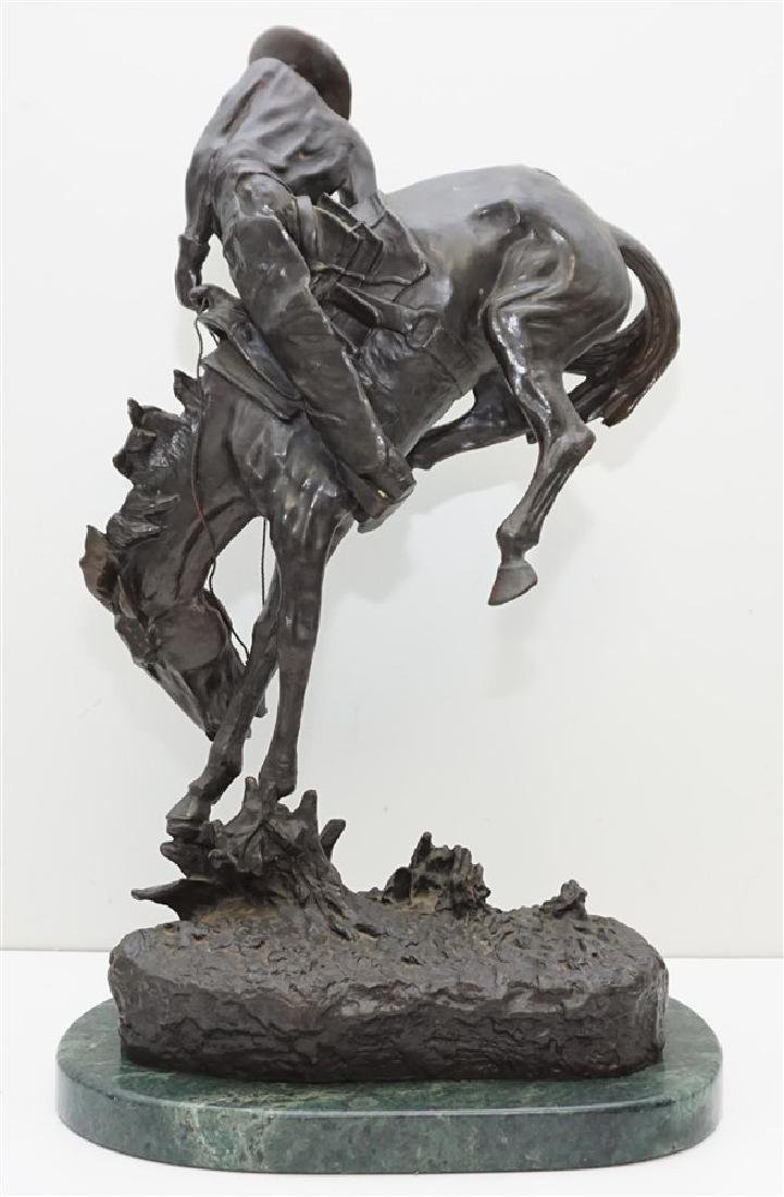 "EARLY FREDERIC REMINGTON ""OUTLAW"" BRONZE - 5"