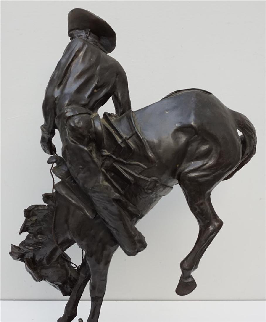 "EARLY FREDERIC REMINGTON ""OUTLAW"" BRONZE - 6"