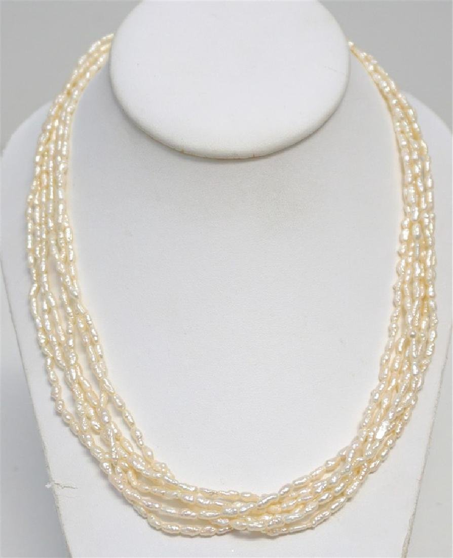 ESTATE MULTI STRAND SEED PEARL NECKLACE