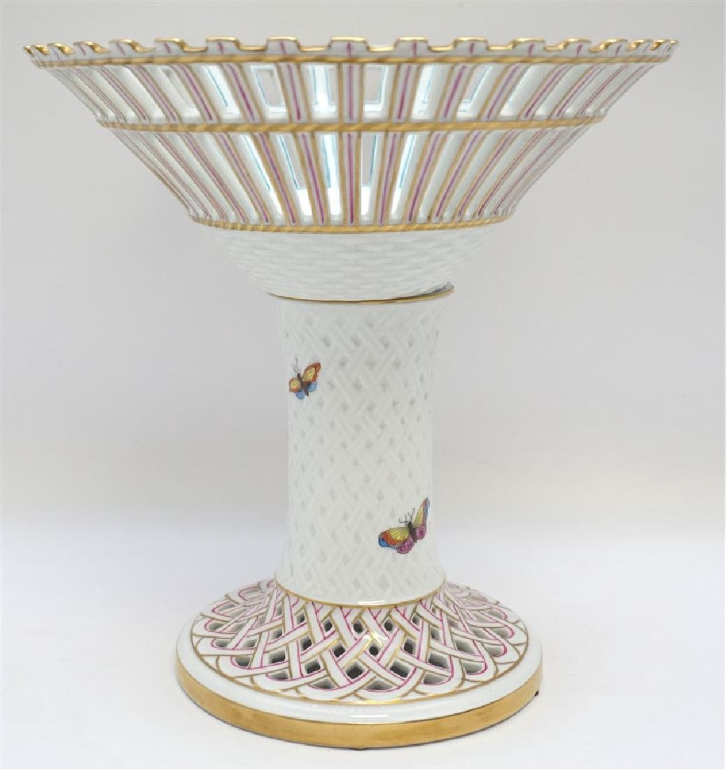HEREND ROTHSCHILD BIRD FOOTED COMPOTE