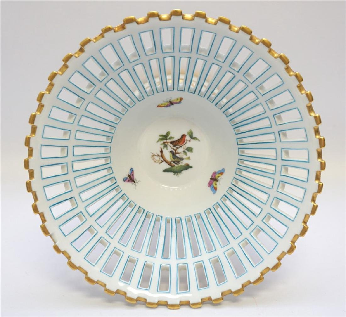 HEREND ROTHSCHILD BIRD FOOTED COMPOTE - 2
