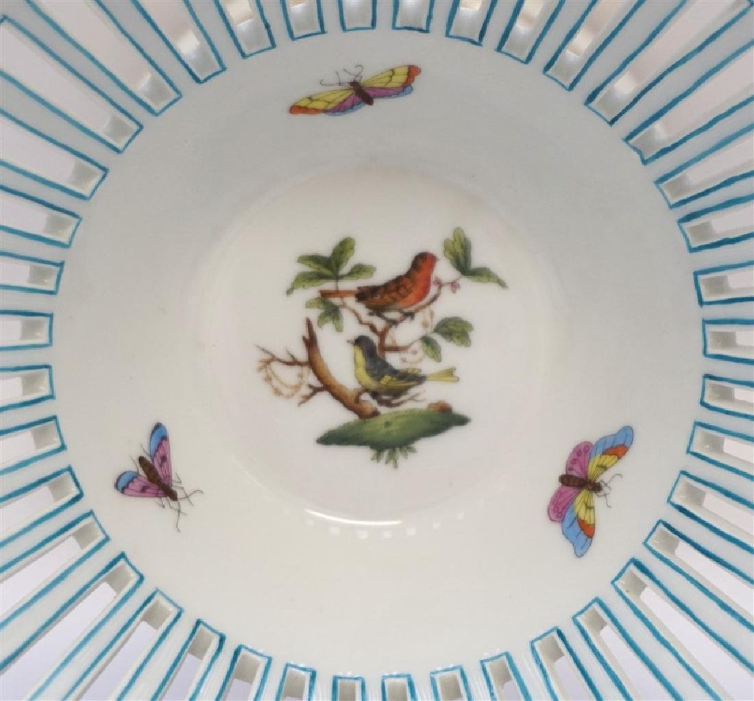 HEREND ROTHSCHILD BIRD FOOTED COMPOTE - 3