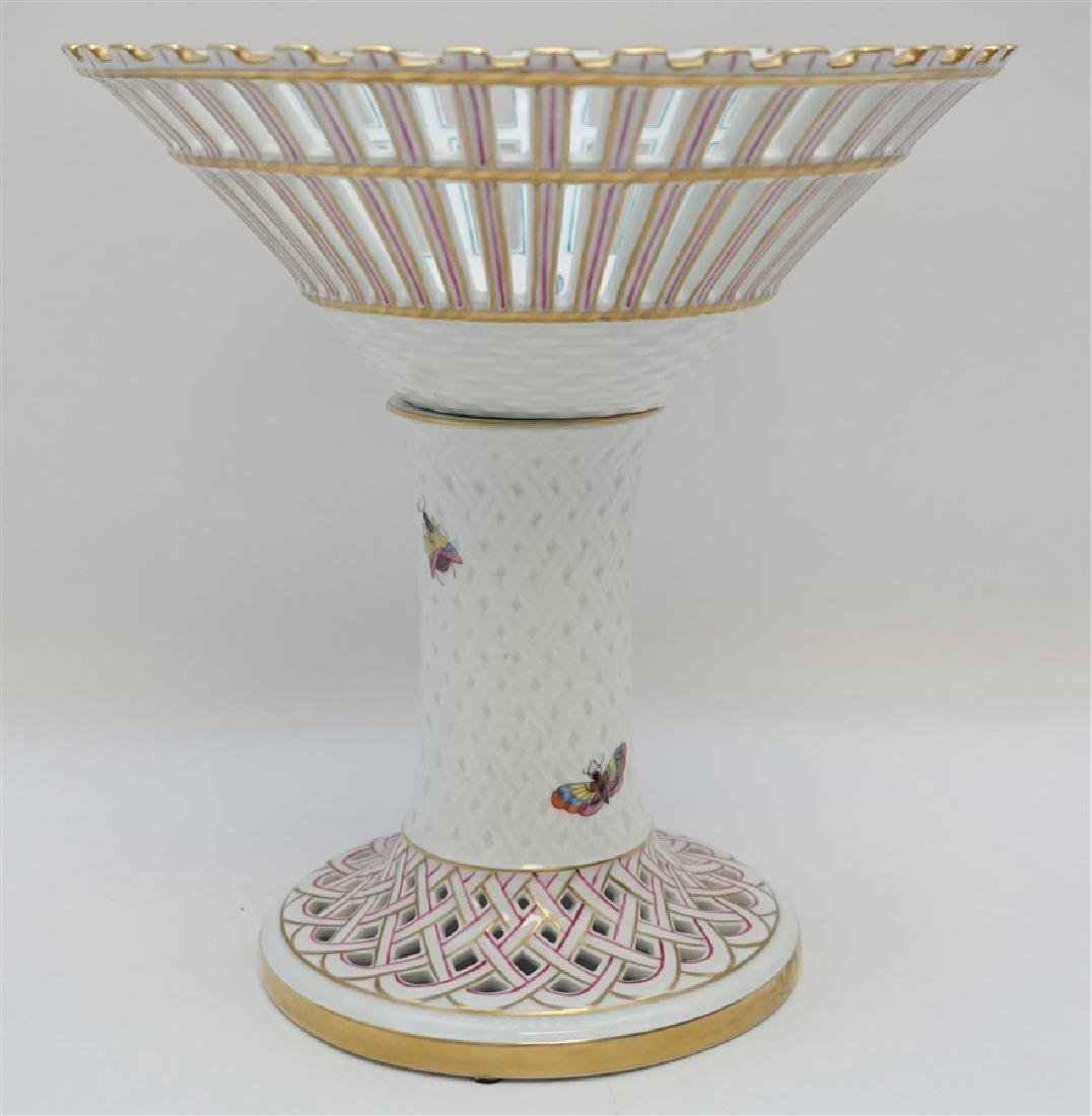 HEREND ROTHSCHILD BIRD FOOTED COMPOTE - 6