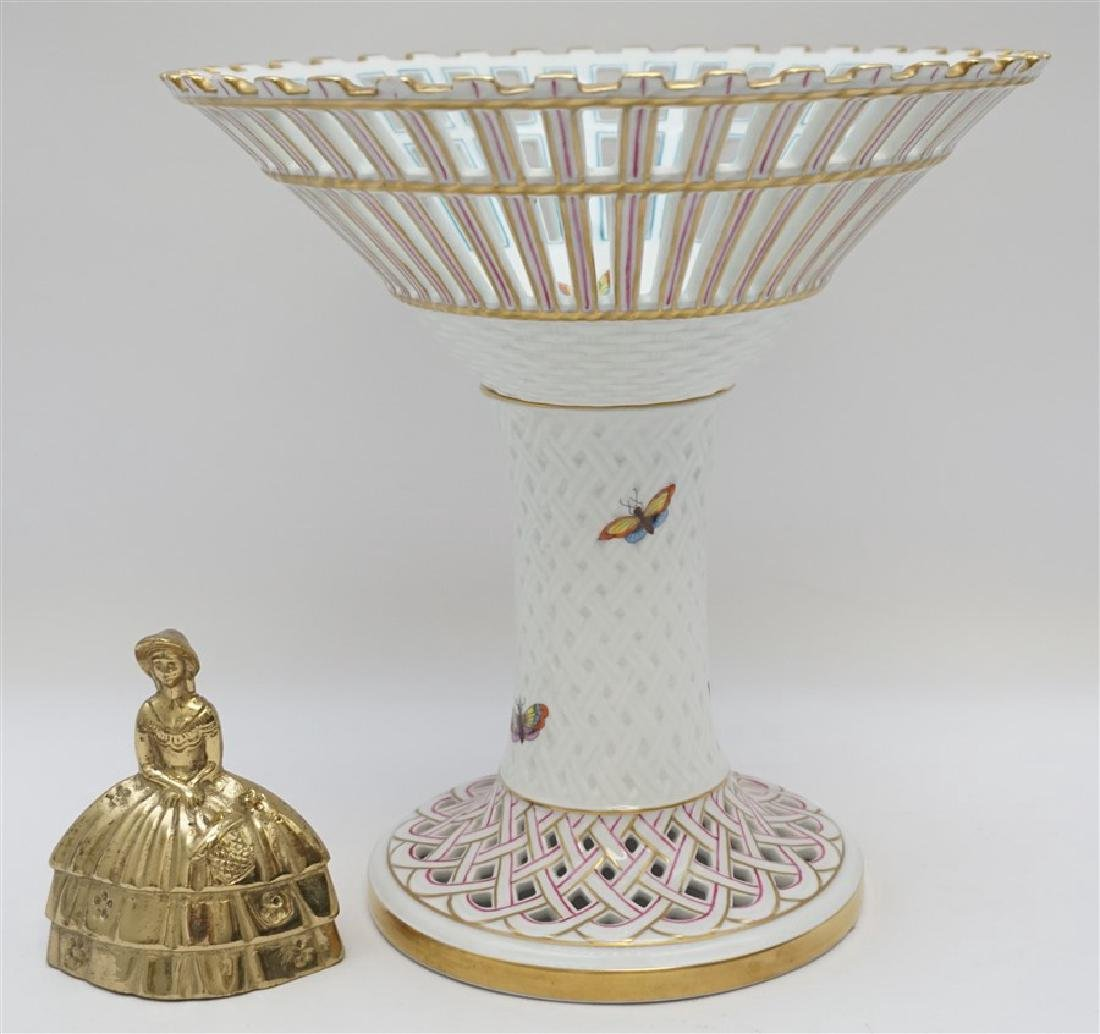 HEREND ROTHSCHILD BIRD FOOTED COMPOTE - 8