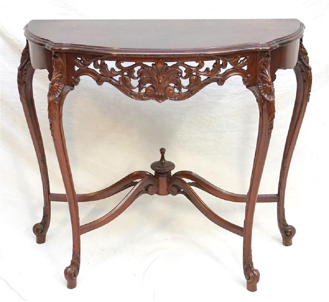 FRENCH REGENCY DEMI LUNE CONSOLE TABLE