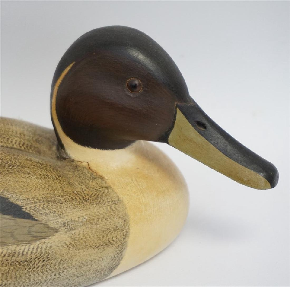 4 SIGNED CARVED DUCK DECOYS - BURNS & MORGAN - 6