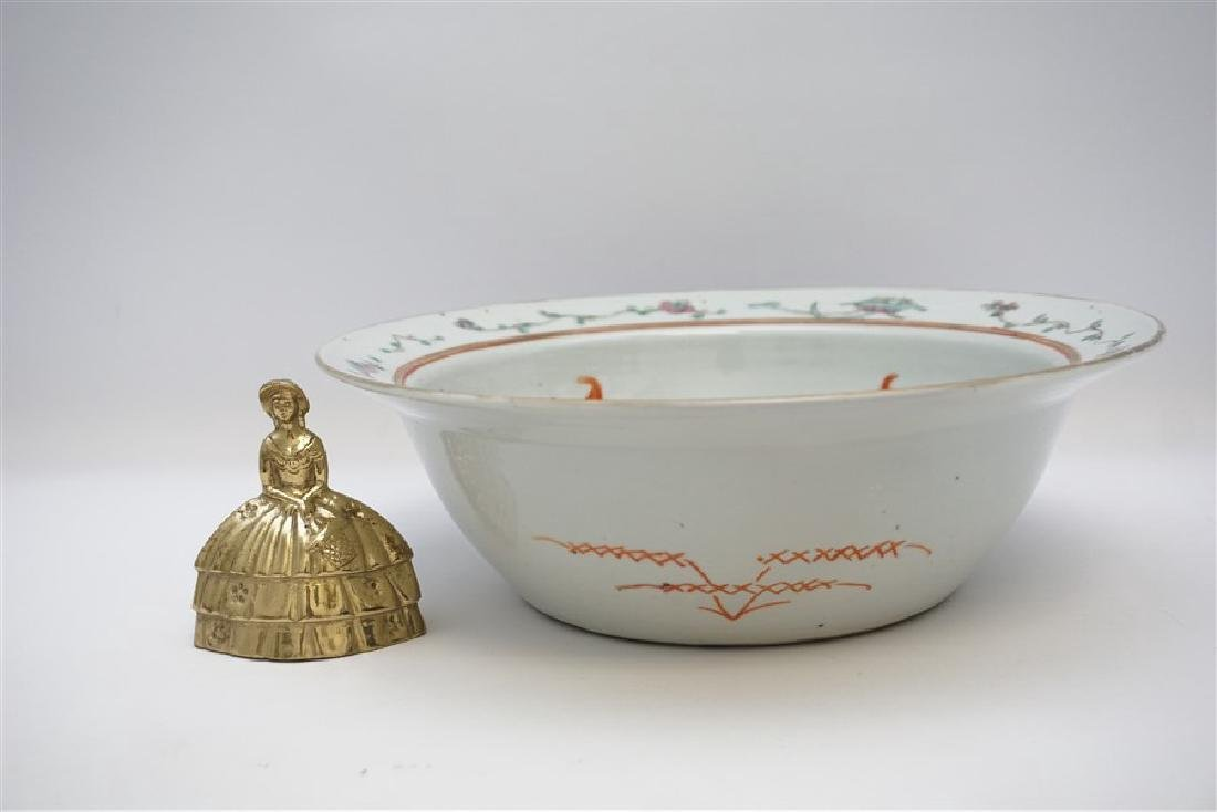 CHINESE QING DYNASTY EXPORT BOWL - CHI-LIN - 10