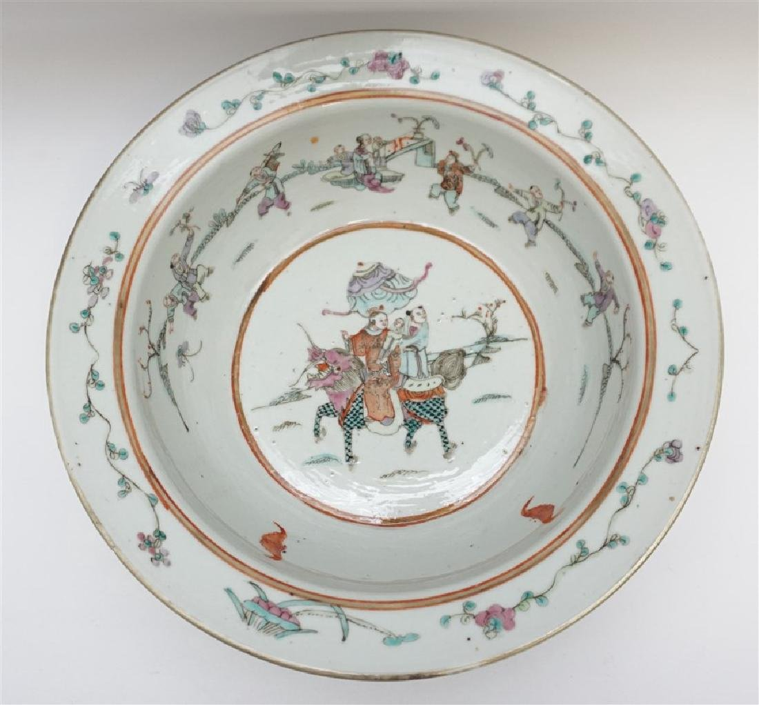 CHINESE QING DYNASTY EXPORT BOWL - CHI-LIN - 2