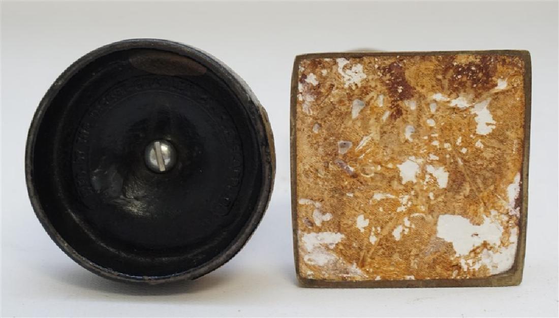 2 GOLF BALL PAPERWEIGHTS - DICKY GRABLER CAST IRON - 5