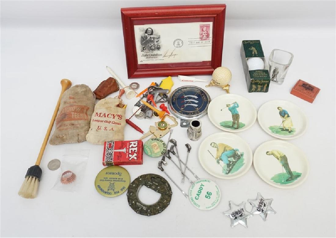 LARGE LOT VINTAGE RETRO GOLF COLLECTIBLES