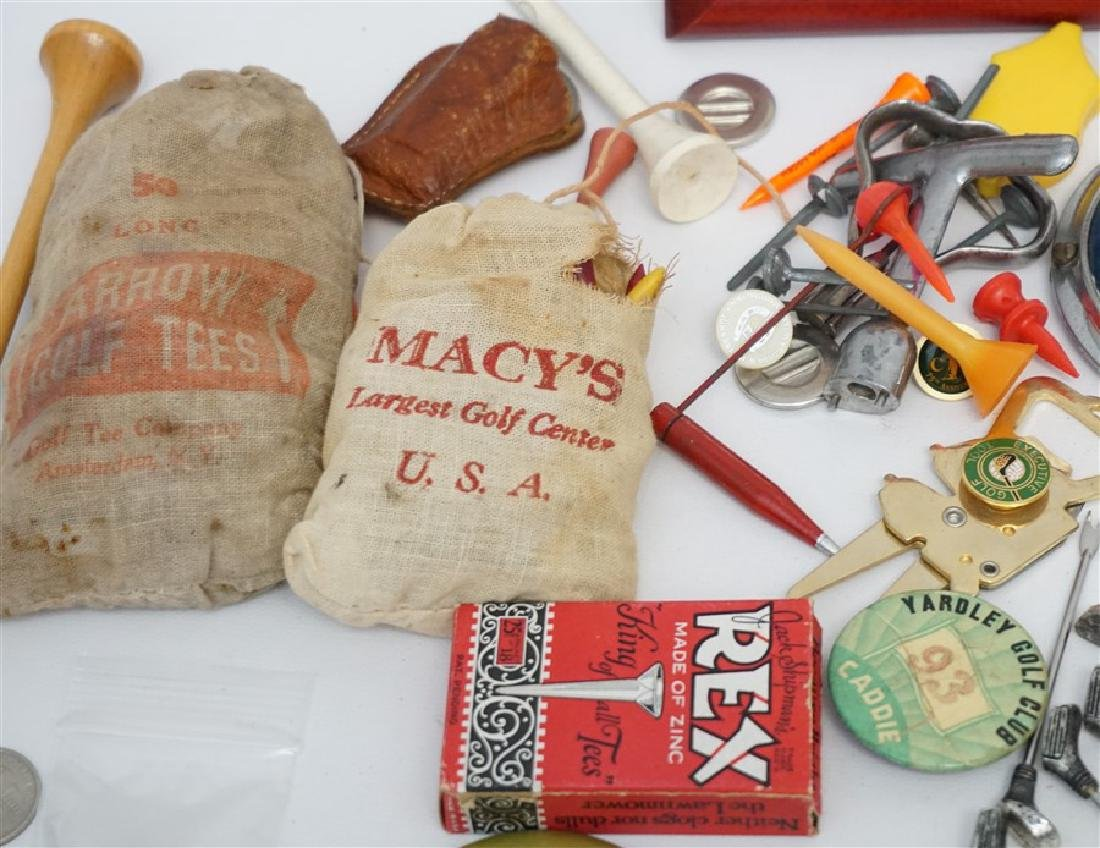 LARGE LOT VINTAGE RETRO GOLF COLLECTIBLES - 2