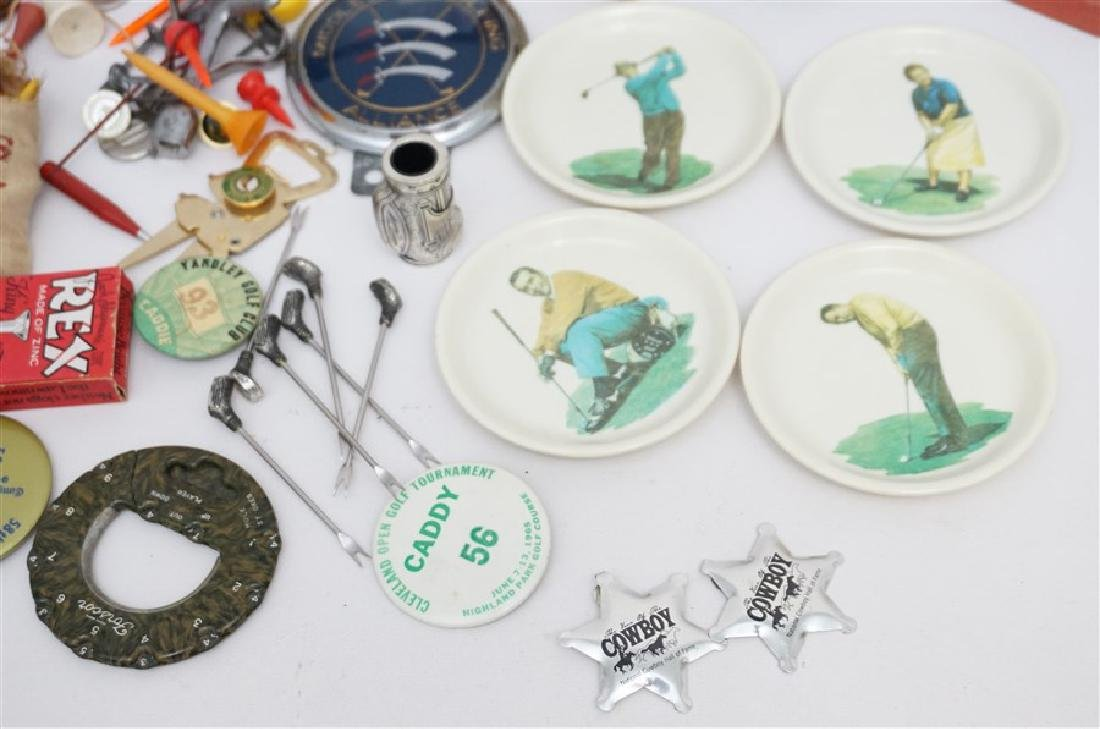 LARGE LOT VINTAGE RETRO GOLF COLLECTIBLES - 3