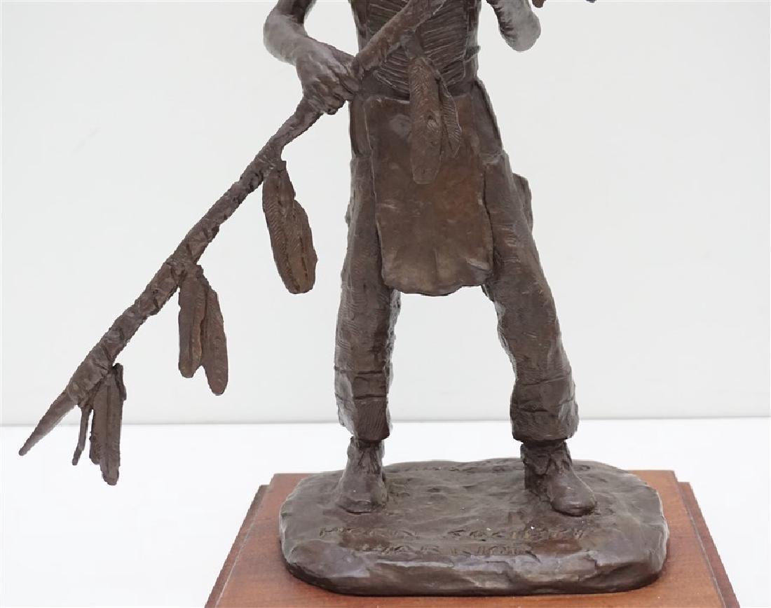 ORIGINAL BOB SCRIVER (1914-1999) WARRIOR BRONZE - 3
