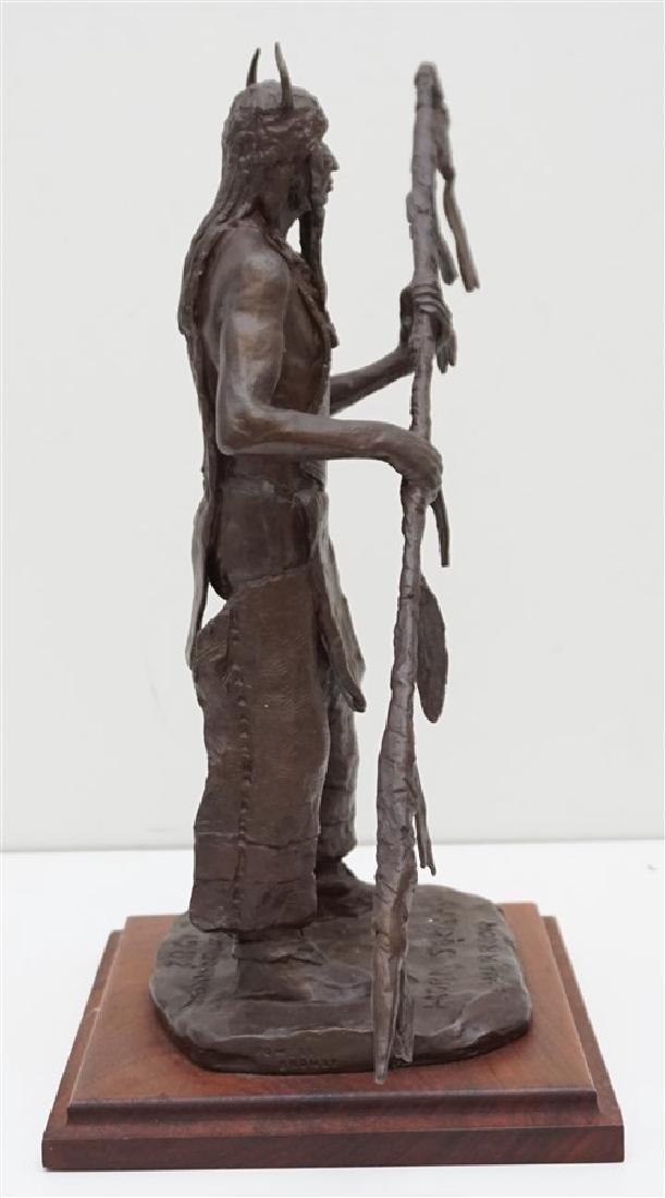 ORIGINAL BOB SCRIVER (1914-1999) WARRIOR BRONZE - 5