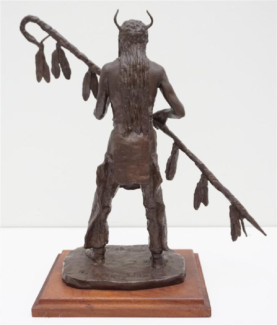ORIGINAL BOB SCRIVER (1914-1999) WARRIOR BRONZE - 6