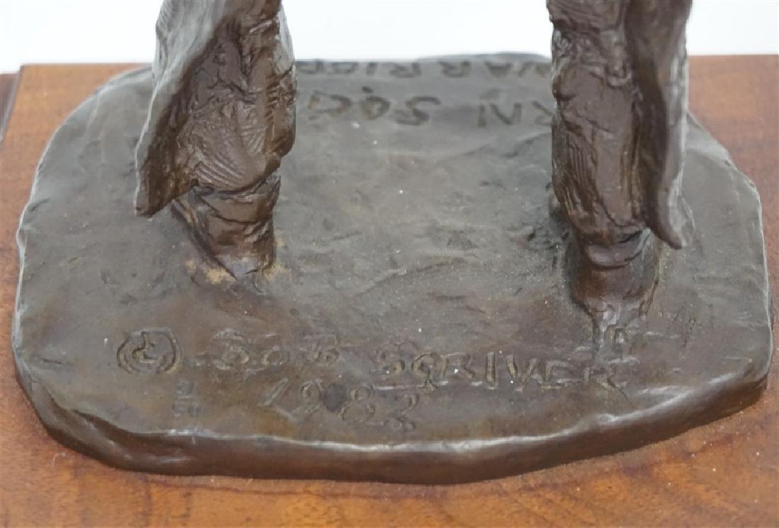 ORIGINAL BOB SCRIVER (1914-1999) WARRIOR BRONZE - 7