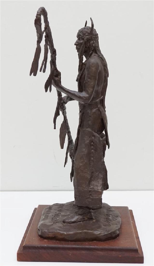 ORIGINAL BOB SCRIVER (1914-1999) WARRIOR BRONZE - 8