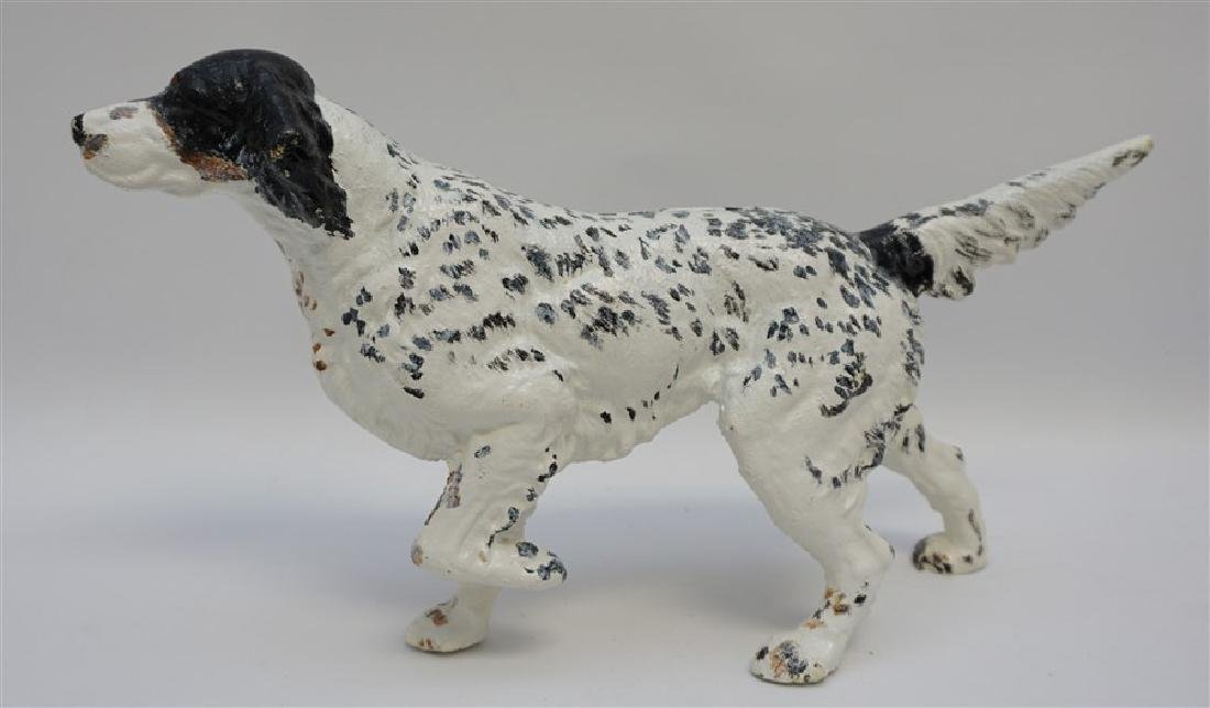 LARGE ENGLISH SETTER CAST IRON DOORSTOP
