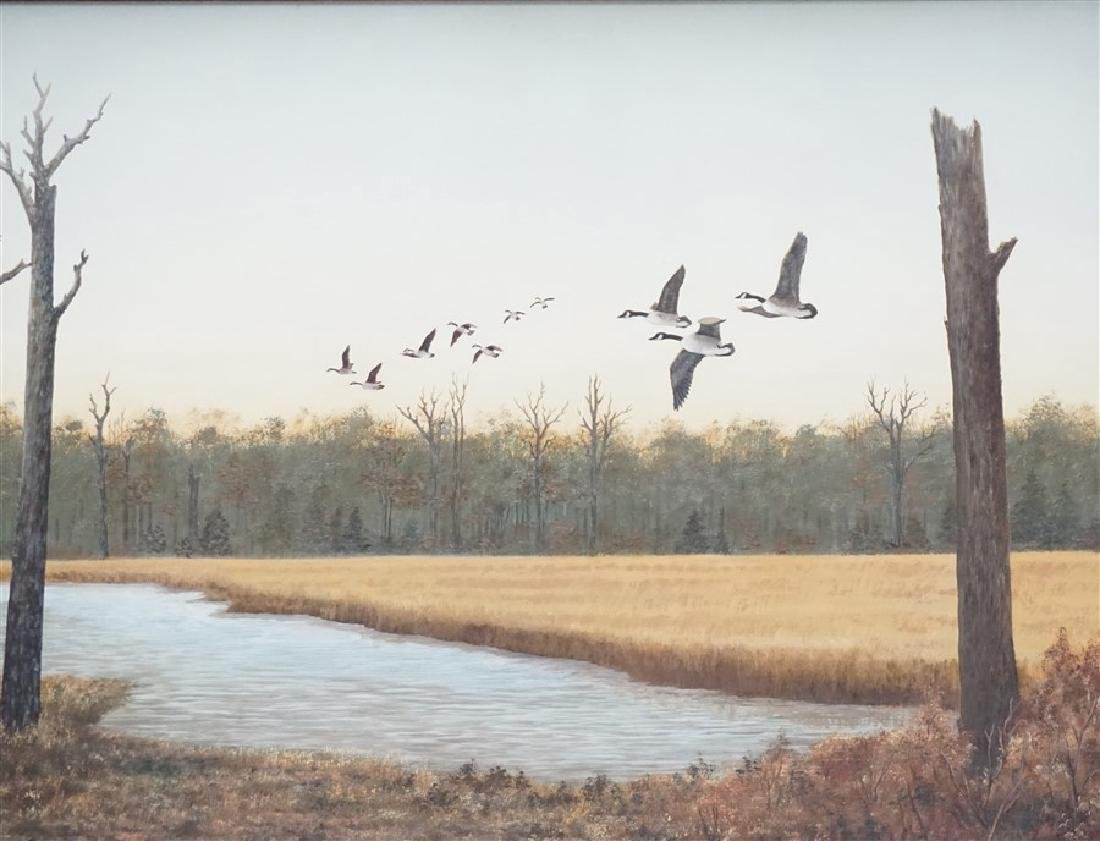 OIL ON BOARD CANADIAN GEESE DORIS M. SIMMONS - 2