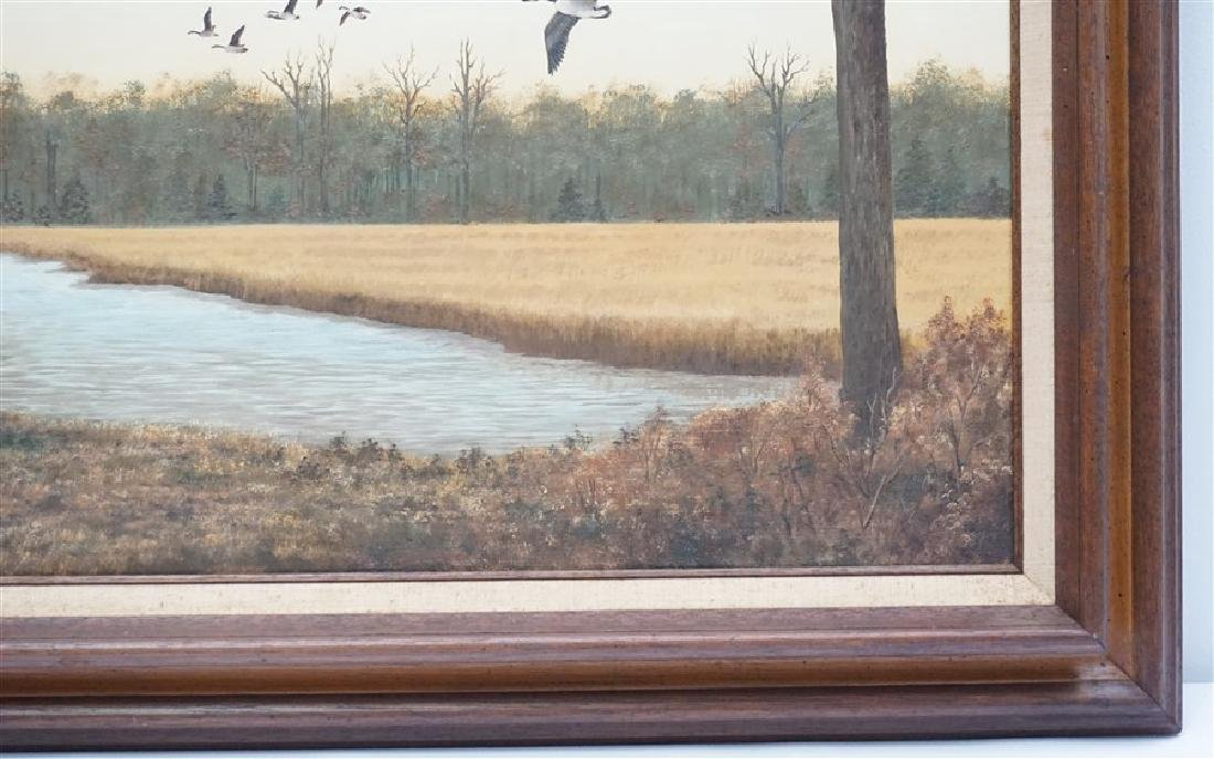 OIL ON BOARD CANADIAN GEESE DORIS M. SIMMONS - 3