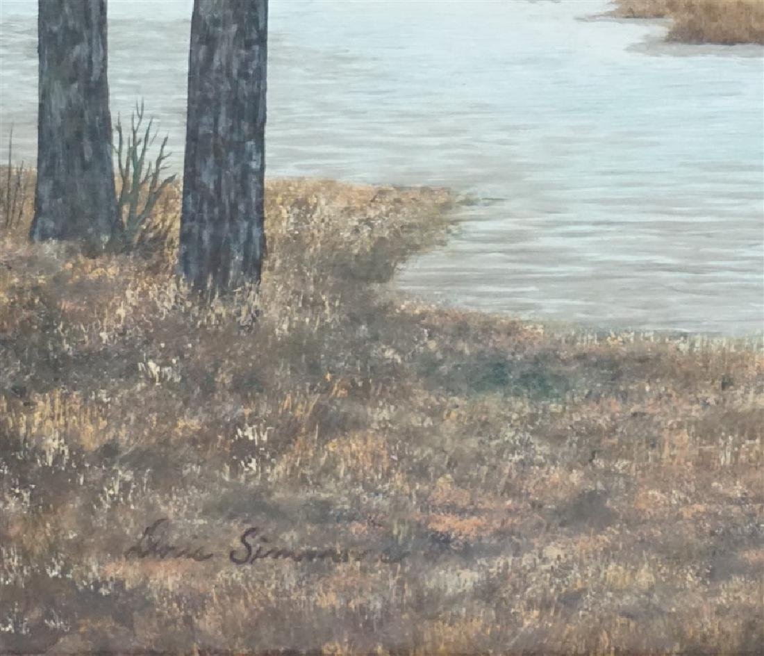 OIL ON BOARD CANADIAN GEESE DORIS M. SIMMONS - 4