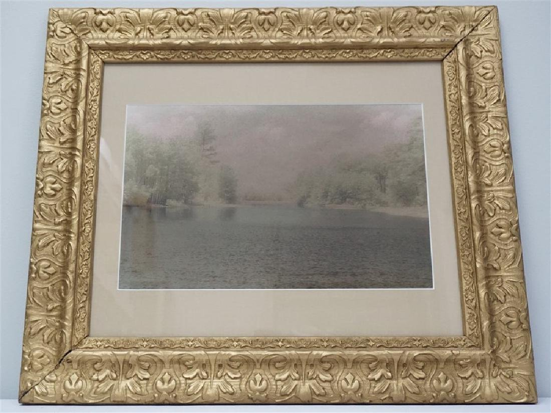 PASTEL WATERCOLOR PRINT ANTIQUE FRAME