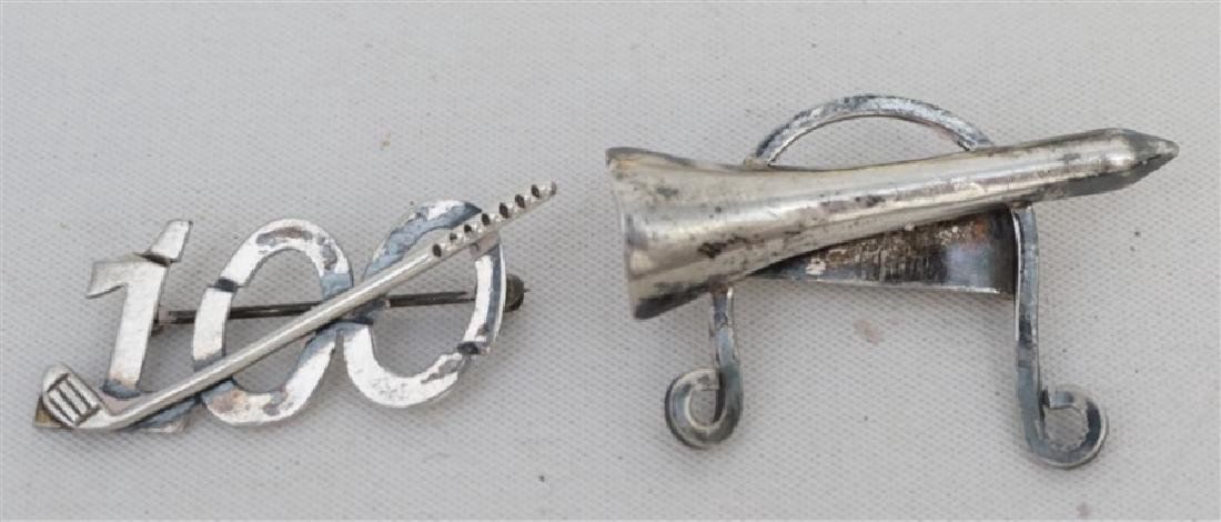 2 LEONORE DOSKOW STERLING MID CENTURY GOLF BROOCHES