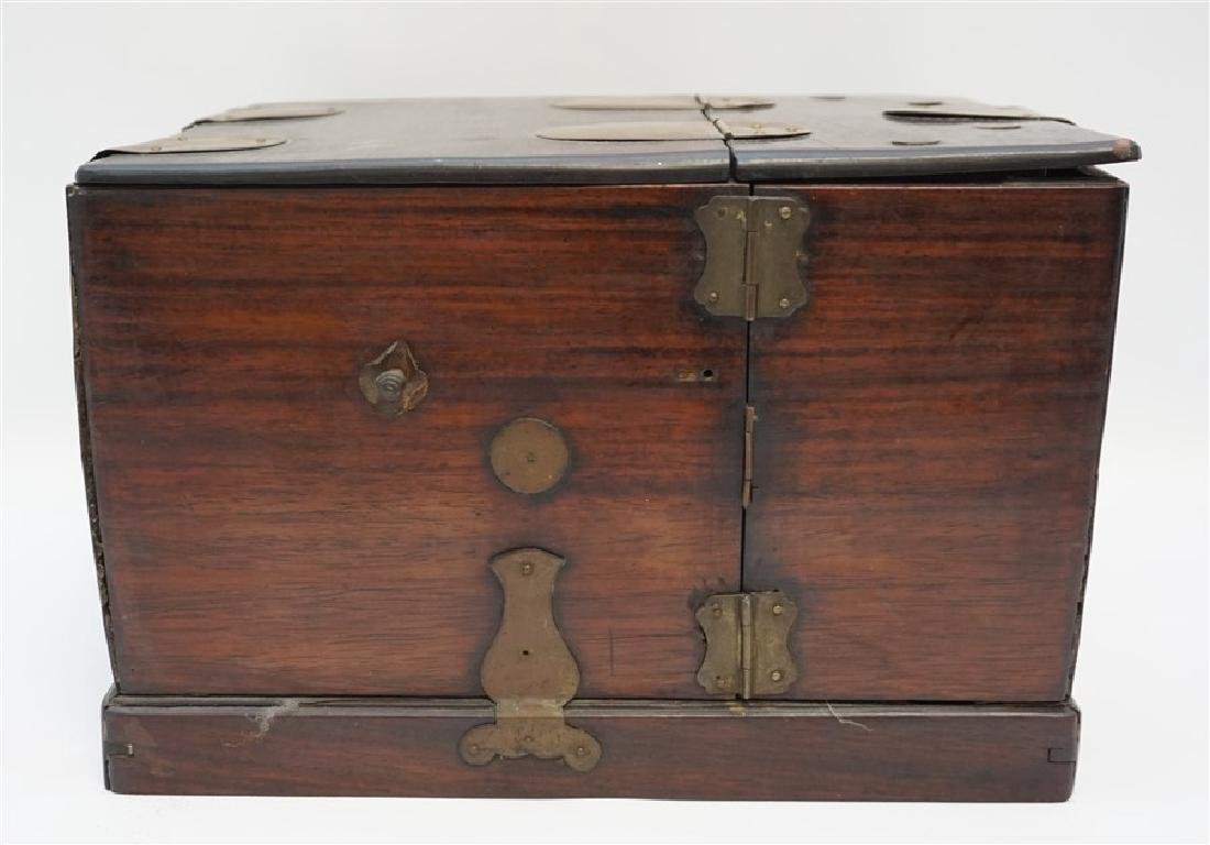 ANTIQUE CHINESE ROSEWOOD MIRROR BOX - 6