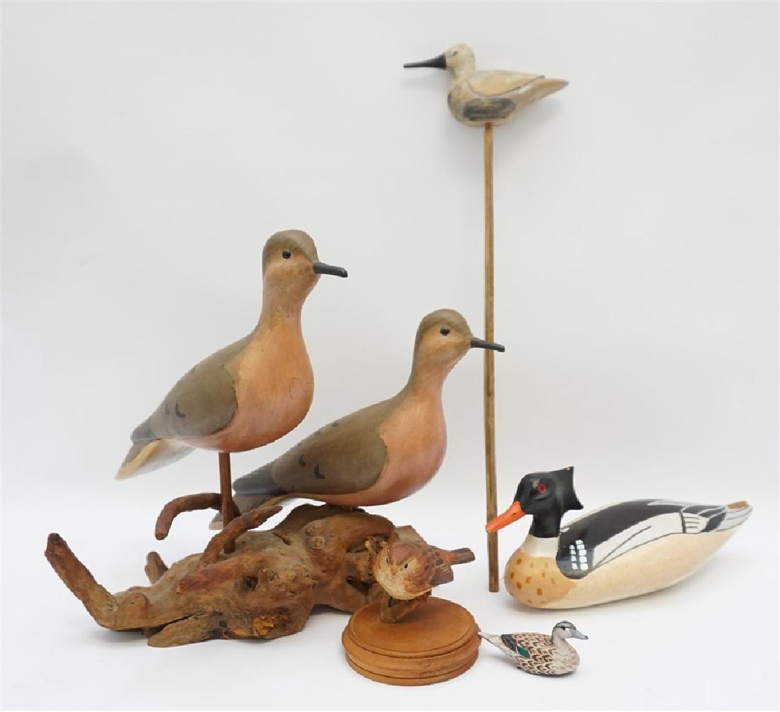 5 CARVED BIRDS WILLIAM PORTERFIELD
