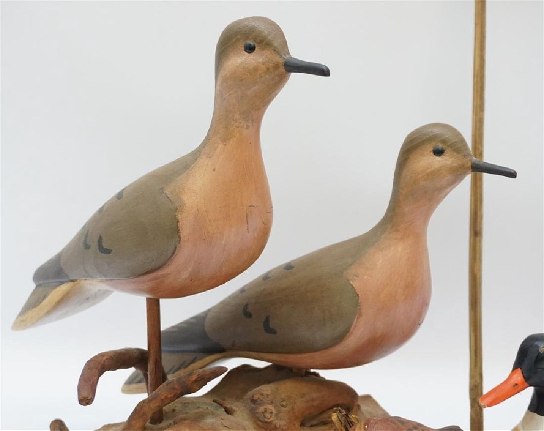 5 CARVED BIRDS WILLIAM PORTERFIELD - 2