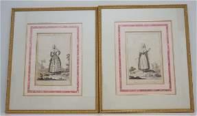 PAIR 1777 CANO & OLMEDILLA ENGRAVINGS SPAIN