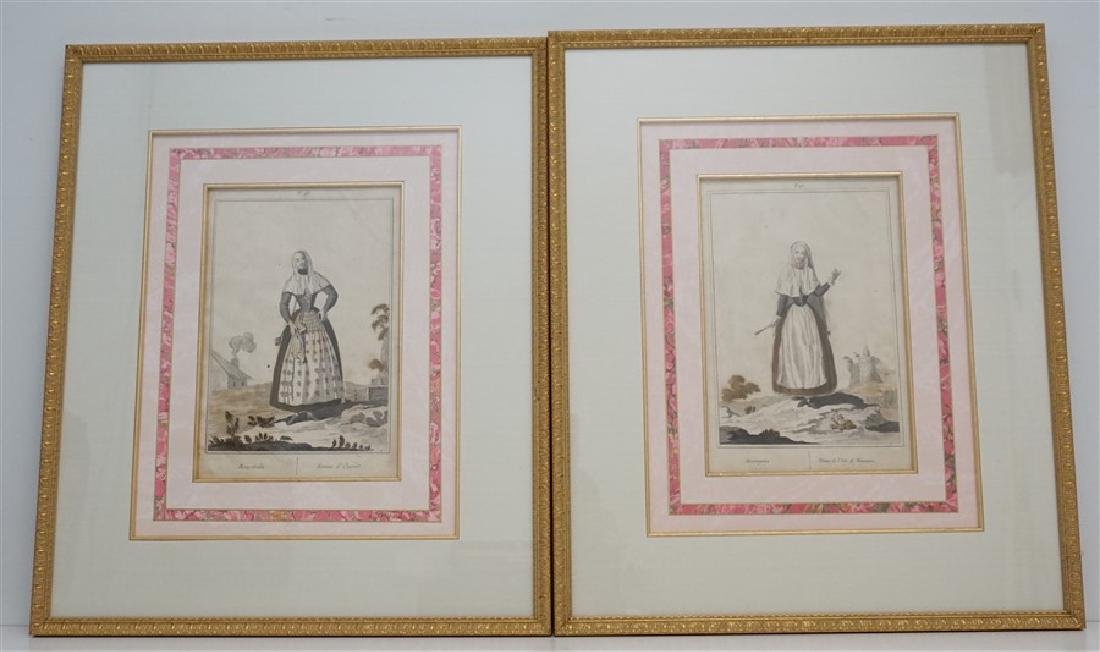PAIR 1777 CANO &  OLMEDILLA ENGRAVINGS SPAIN