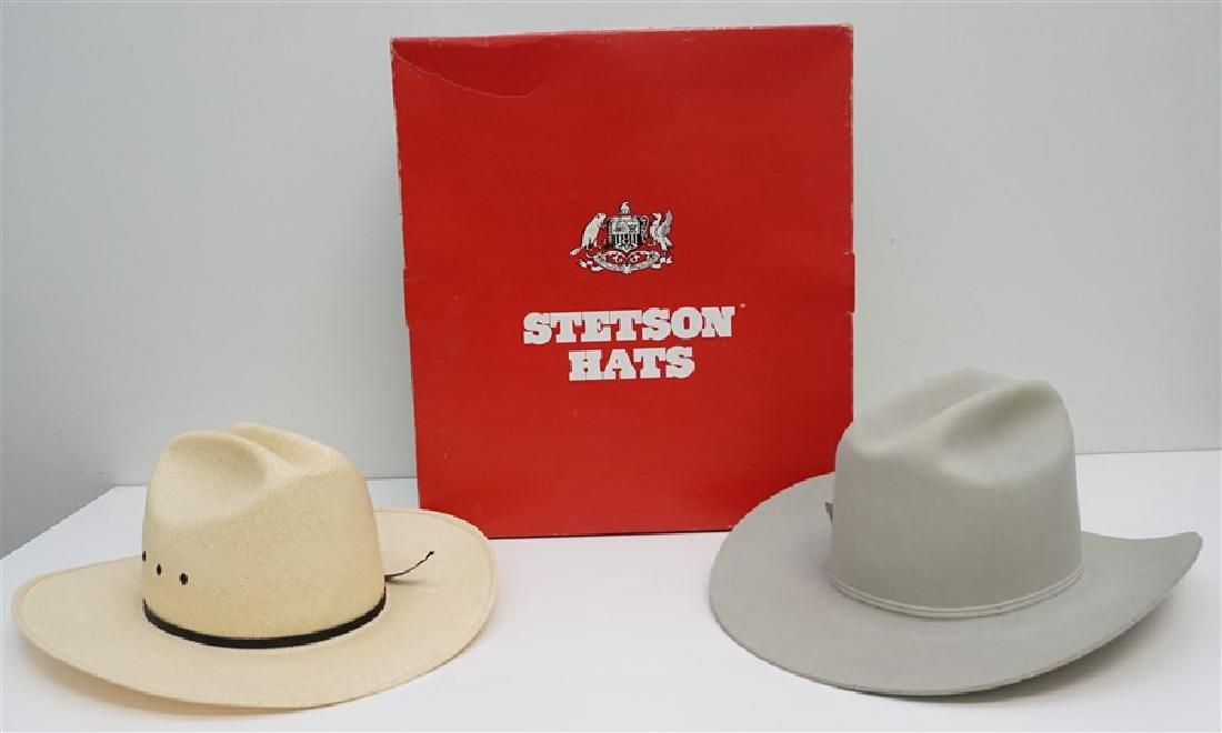 2 STETSON + COWBOY HATS ORIG BOX