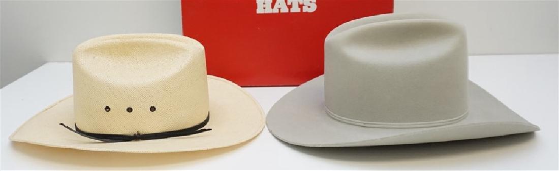 2 STETSON + COWBOY HATS ORIG BOX - 4