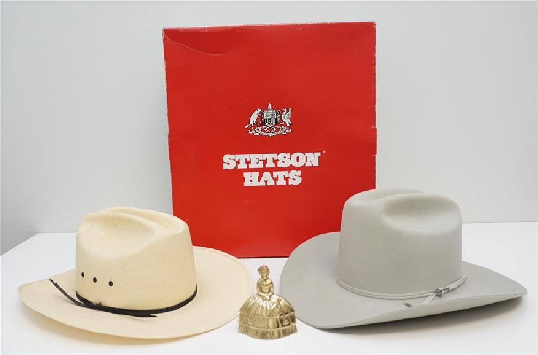 2 STETSON + COWBOY HATS ORIG BOX - 9