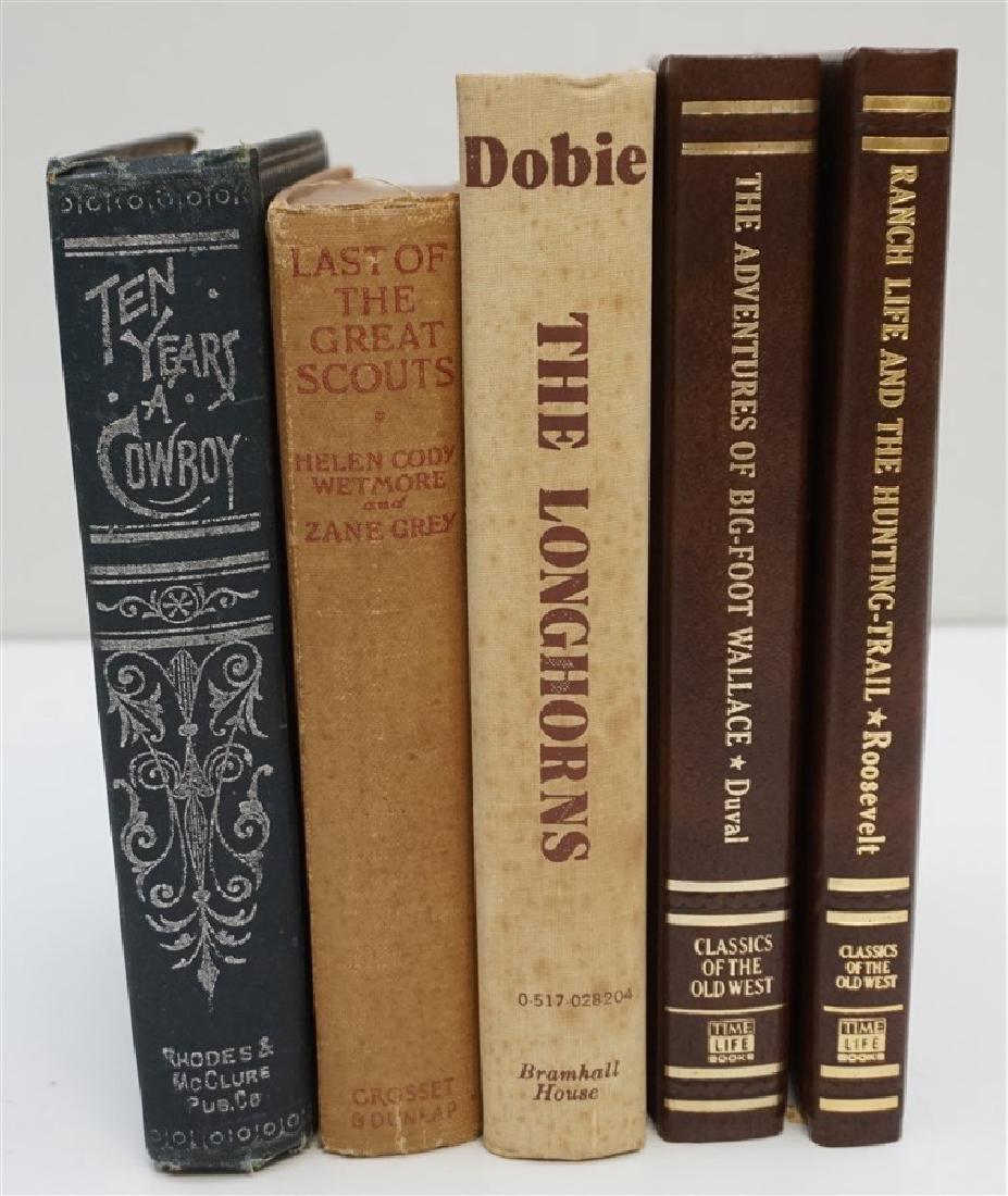 5 ANTIQUE/VINTAGE COWBOY WESTERN BOOKS