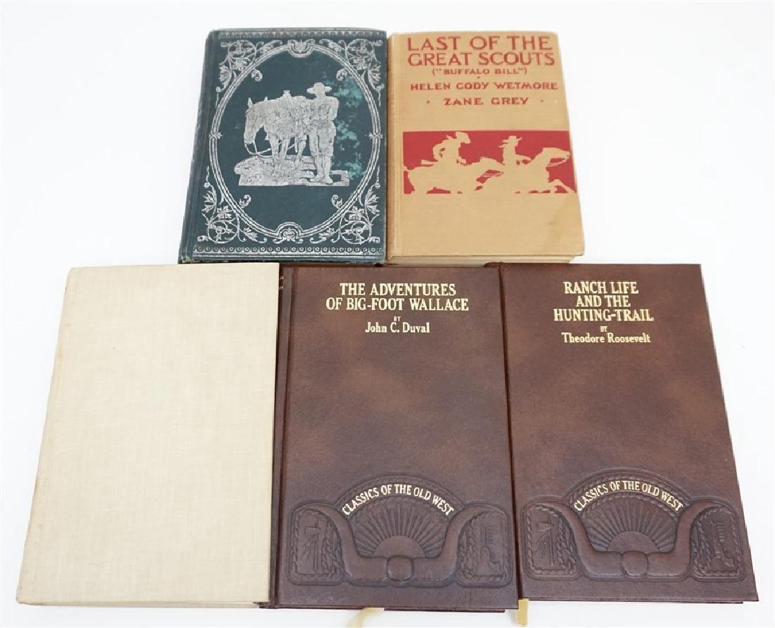5 ANTIQUE/VINTAGE COWBOY WESTERN BOOKS - 2