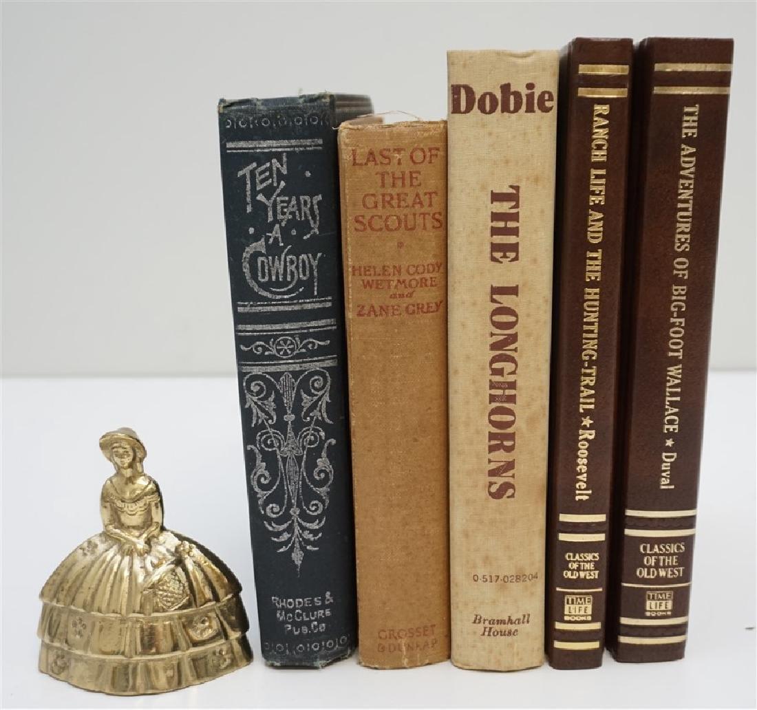 5 ANTIQUE/VINTAGE COWBOY WESTERN BOOKS - 4
