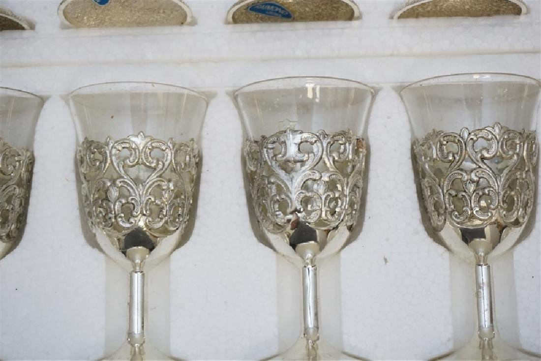 18 VTG RAIMOND SILVERPLATE & CRYSTAL CORDIALS - 2