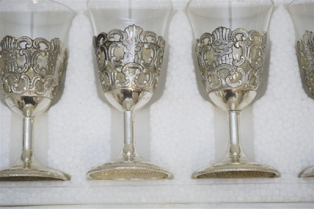 18 VTG RAIMOND SILVERPLATE & CRYSTAL CORDIALS - 3